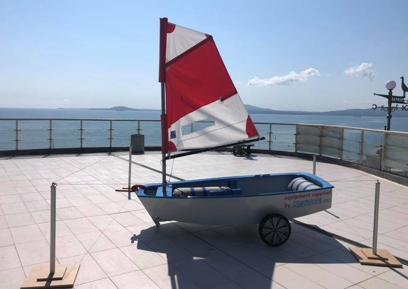 Шампионска яхта на англичанка изложиха на Морското казино