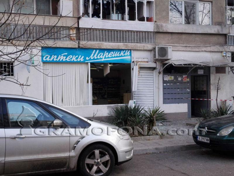 Бомбата пред аптеката на Марешки била за медиите