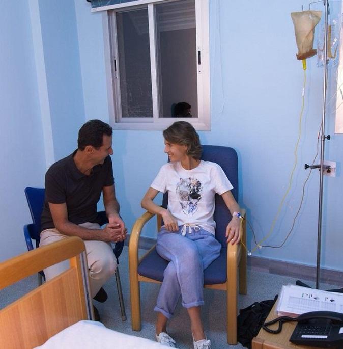 Съпругата на сирийския президент на химиотерапия, лекува се от рак на гърдата