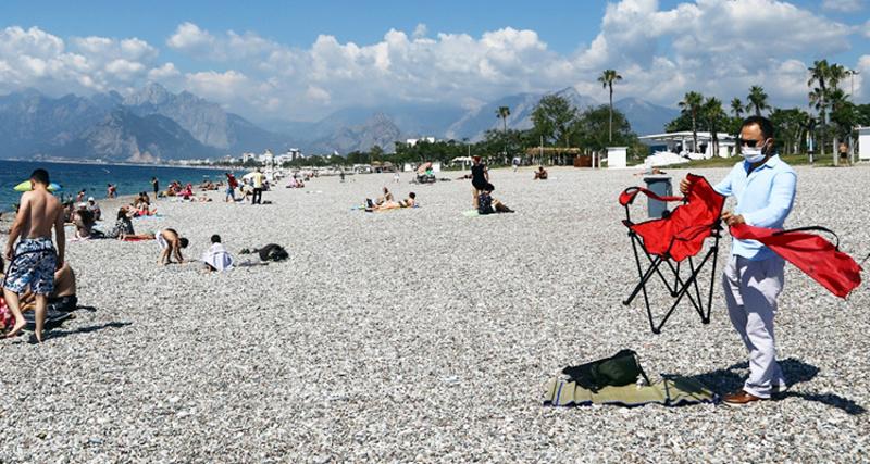 Задължителни маски на плажа в Турция