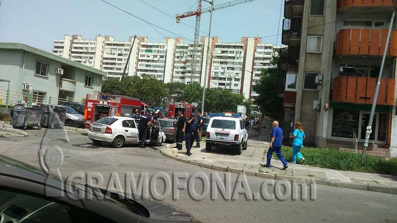 Пожар в Братя Миладинови, две пожарни и Жандармерия пътуват към мястото
