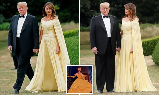 Красавицата и звярът: Мелания Тръмп като Бел в замъка Бленхайм