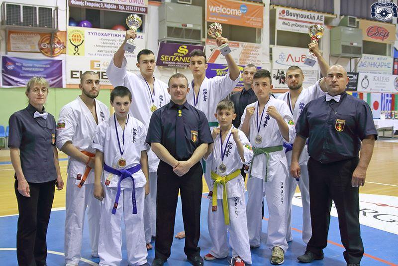 Бойците на сенсей Христо Терзиев триумфираха на турнир в Гърция