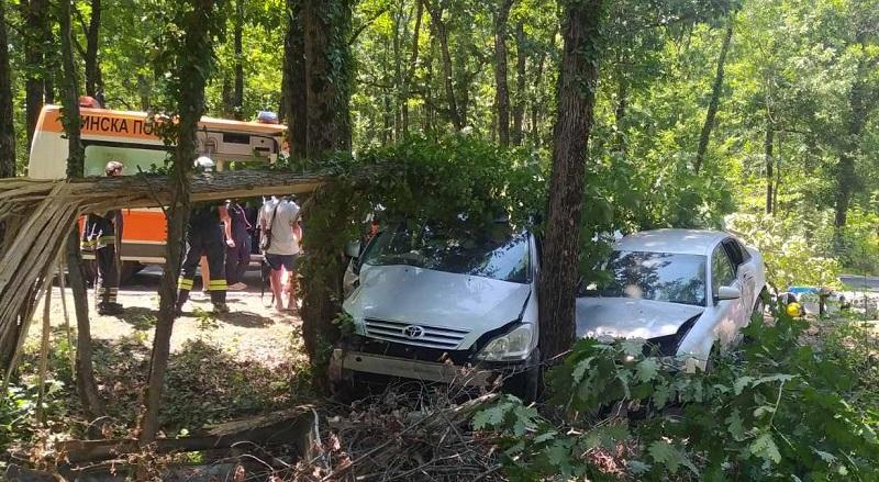 Катастрофа затапи пътя от Приморско за Бургас