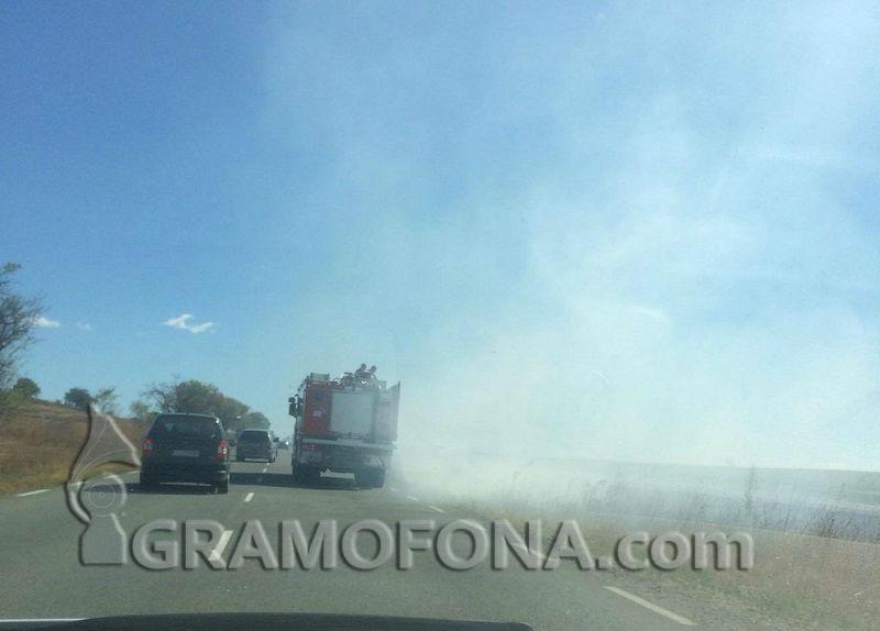 Мигрантите, запалили гората край Граматиково, още се без обвинения