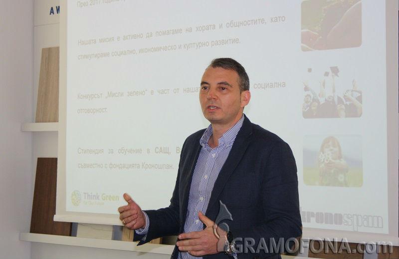 Николай Банков: Искаме всяко бургаско училище да има зелен проект, финансиран от Кроношпан