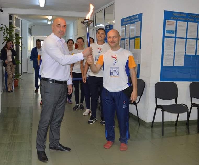 Факелът на мира влезе в община Созопол