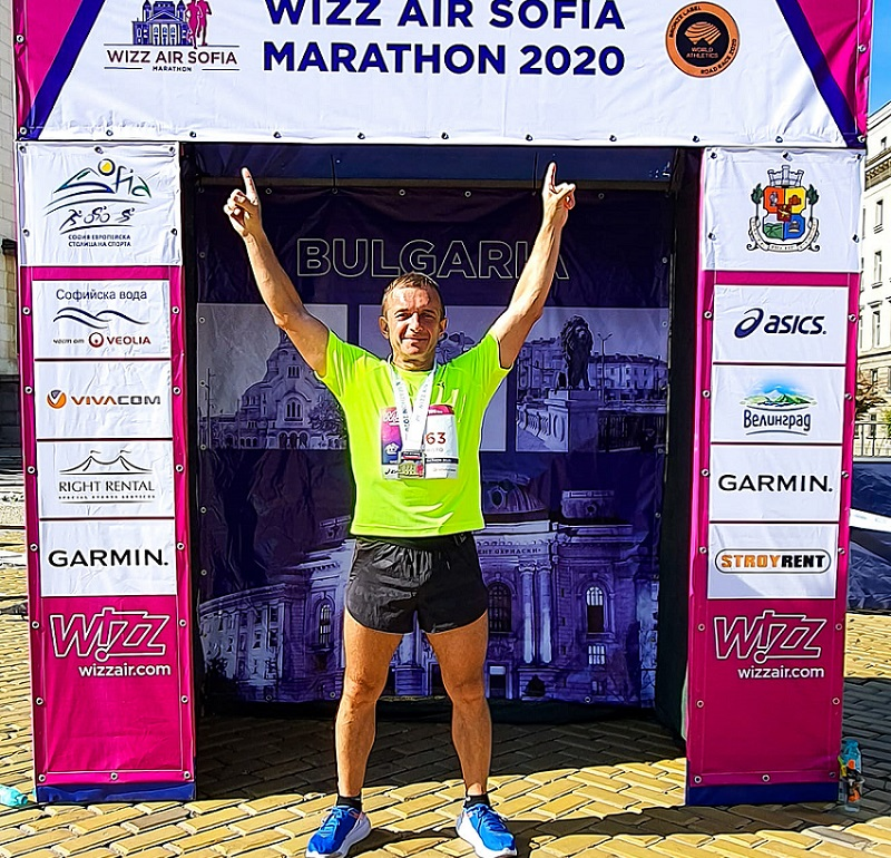 Христо Терзиев успешно финишира на маратона в София