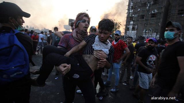 Над 100 убити при масови протести в Ирак