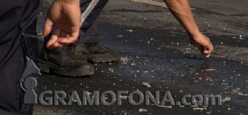 Камион със зърно катастрофира и се запали край Исперих