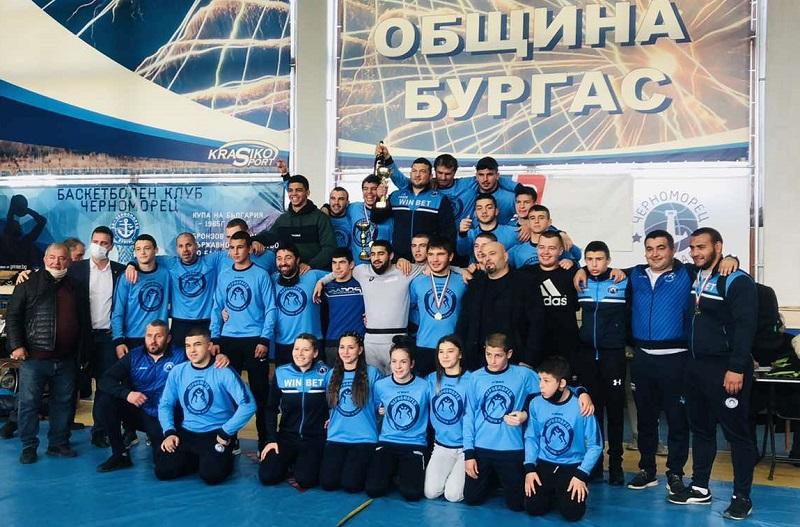 """Борците на """"Черноморец"""" отново показаха, че са най-добрите"""