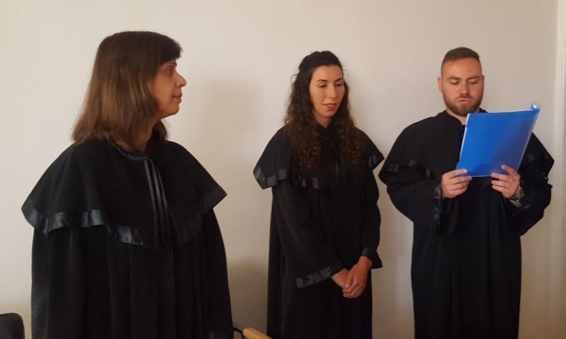 Двама младши съдии положиха клетва в Окръжен съд – Бургас