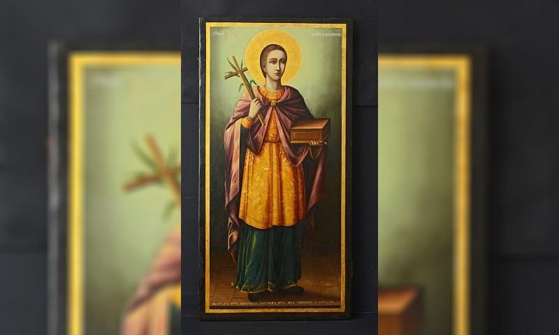 Реставрирана икона на Свети Пантелеймон ще бъде изложена в бургаския музей