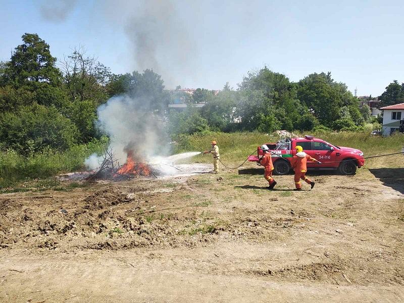 Пожарникари и горски от България и Турция в съвместно учение
