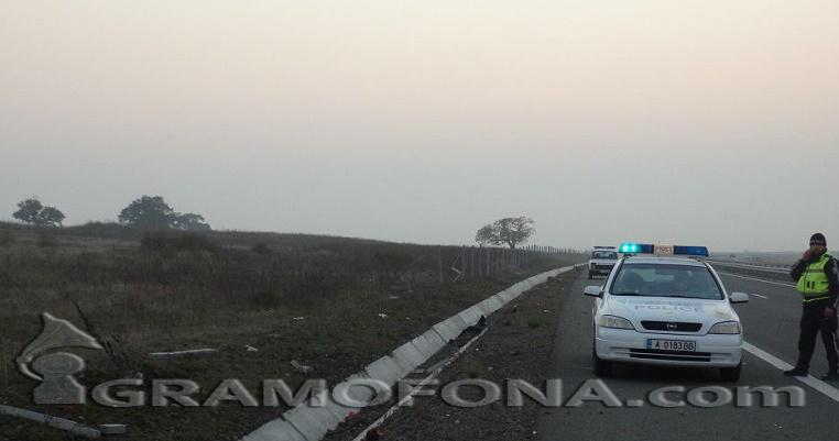 Катастрофа на магистралата край Нова Загора, има загинал