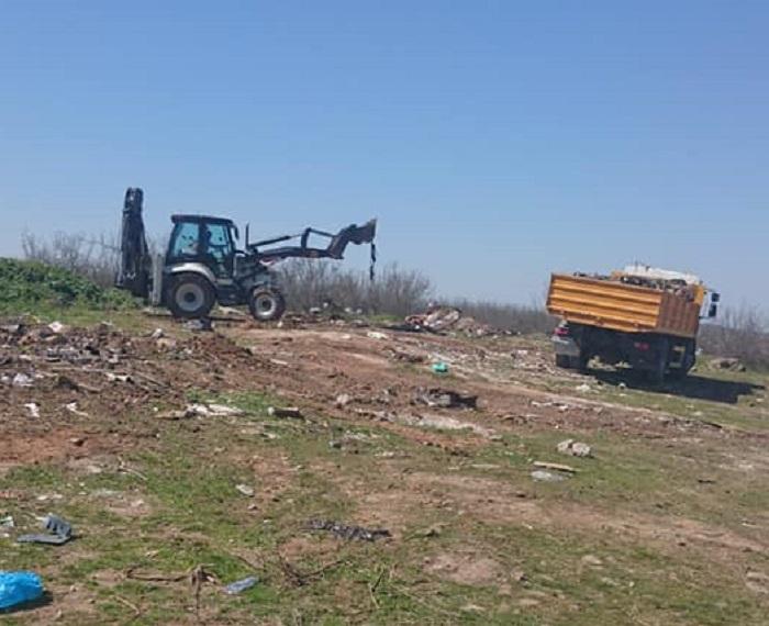 За два дни в Маринка разчистиха 100 тона боклук