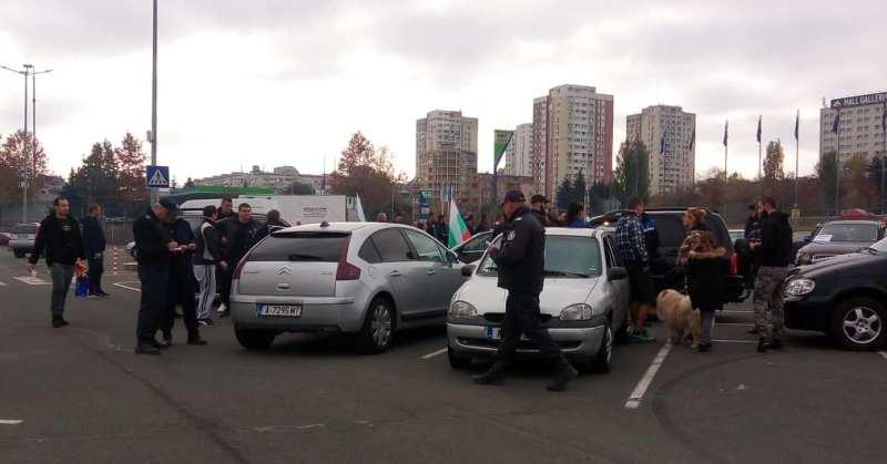 Полицейска преса на шофьорския протест