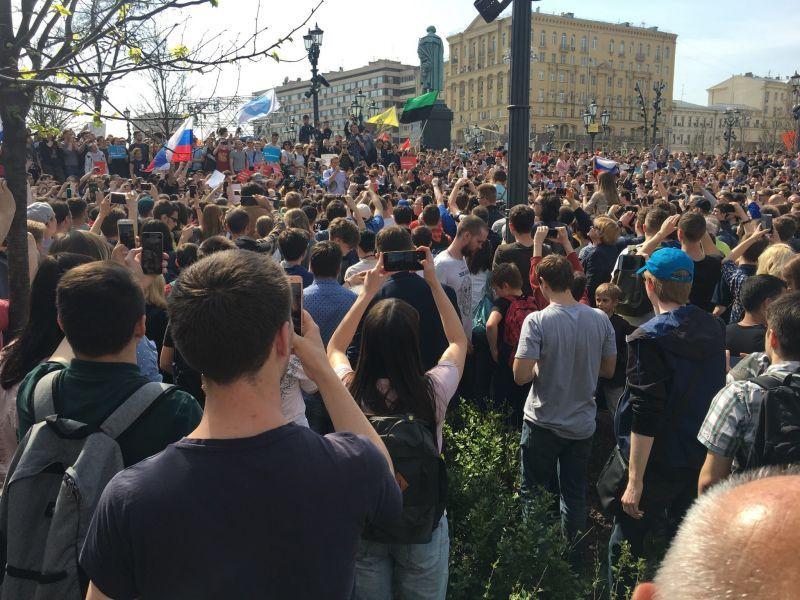 Протести в 90 руски града, десетки са арестувани