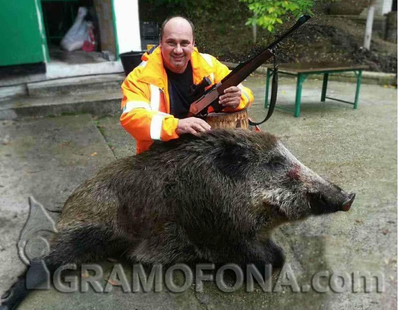С три изстрела падна 134 килограмов глиган в Средецко
