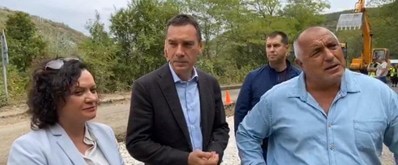 Борисов инспектира ремонта на пътя Айтос – Провадия