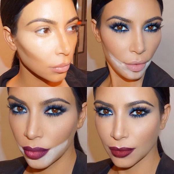 Перфектният грим на Ким Кардашиян, лесно е