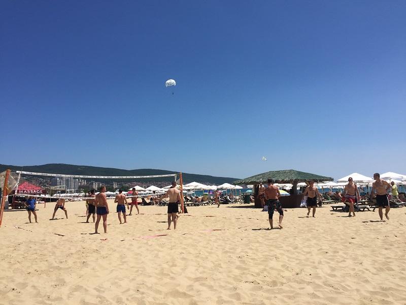 Волейбол на плажовете в Слънчев бряг