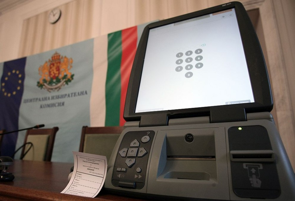 ЦИК представя машините за електронно гласуване
