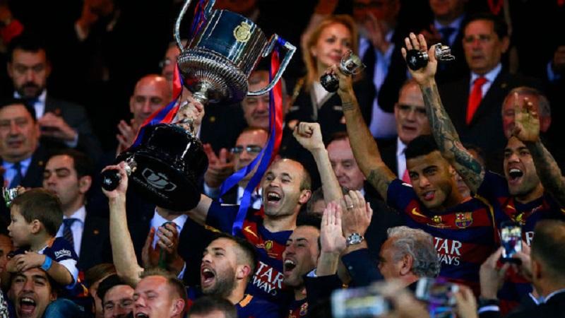Барселона грабна Купата на краля за втора поредна година