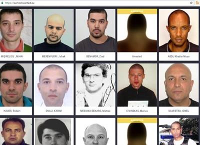 Кампания за най-търсените бандити в Европол