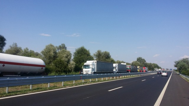 Тир катастрофира на АМ Тракия край Бургас