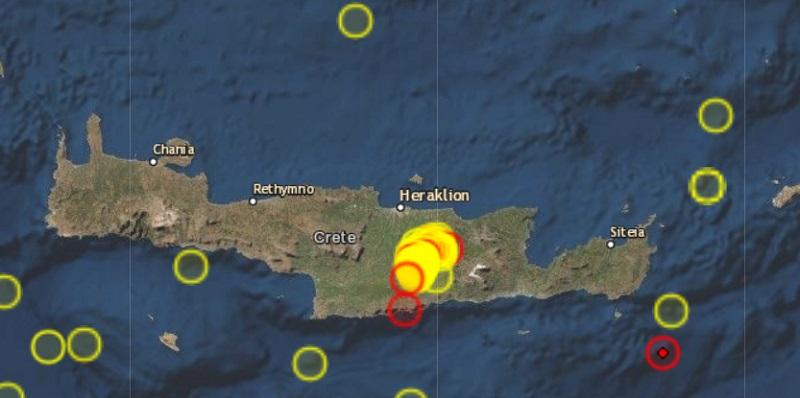 Пак силно земетресение в Крит, има риск от цунами