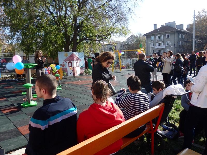 Нова площадка за децата със специални потребности в Бургас
