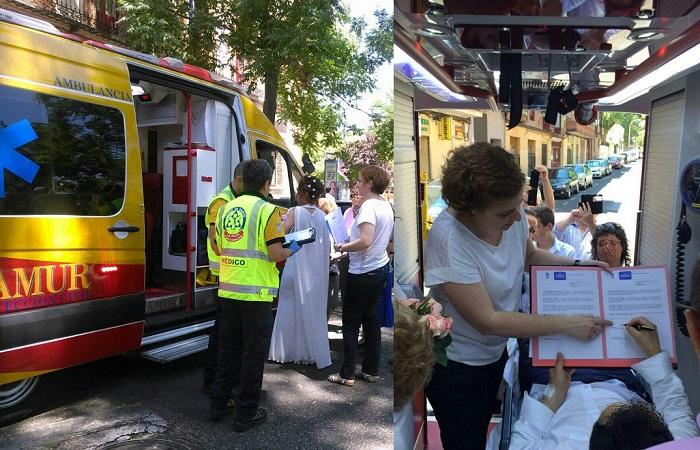 Испанци сключиха брак в линейка