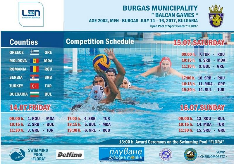 Бургас ще бъде домакин на Балканските игри по водна топка за деца (Програма)