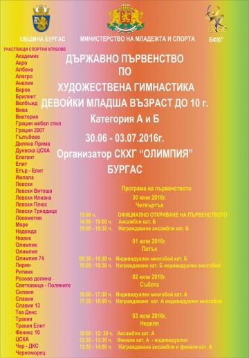 Силен турнир по художествена гимнастика в Бургас