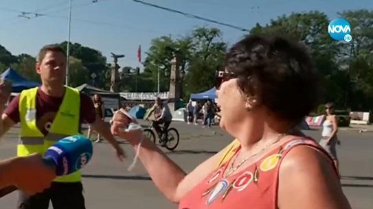 Задържаха възрастна жена с бастун и пиарът на Иванчева след скандал на Орлов мост