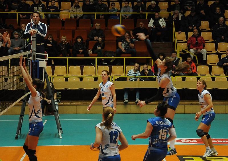 Волейболистките на Бургас 2007 сложиха край на серията от загуби