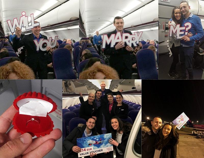 Предложение за брак на борда на самолет