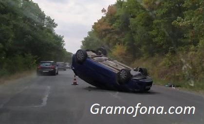 Тежка катастрофа на пътя Айтос - Руен, мъж и жена са ранени
