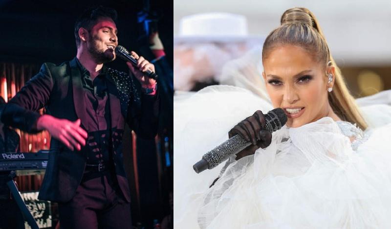 Бургазлия запя на микрофона на Дженифър Лопес и Риана