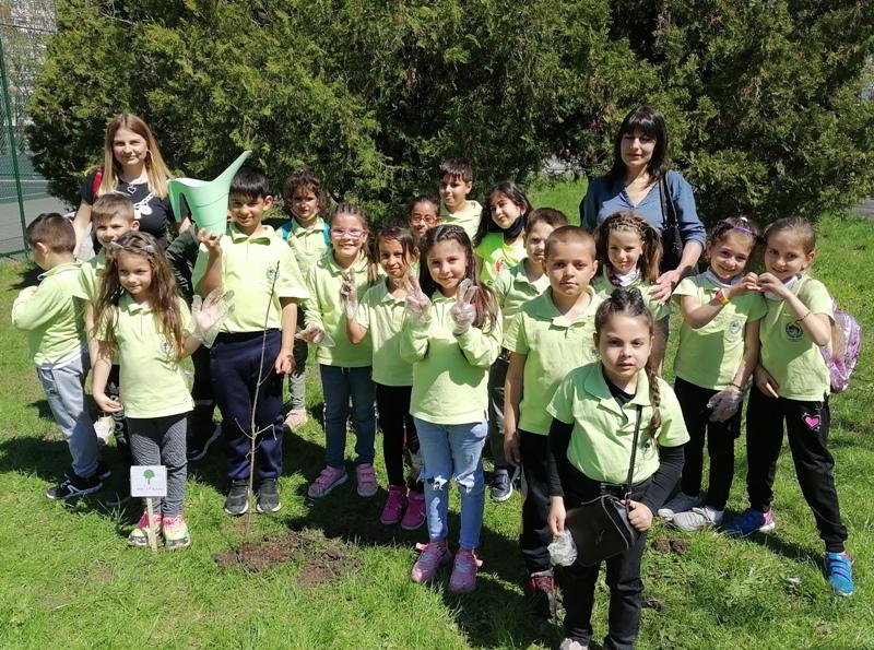 Малки ученици садиха дървета