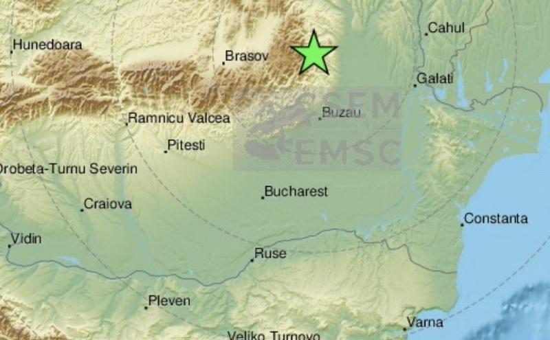 Земетресение разтърси Вранча, усети се и у нас