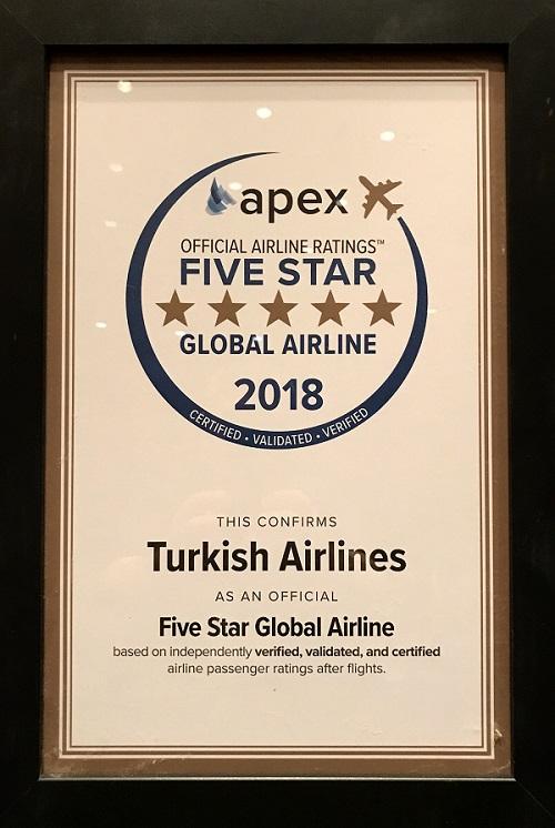 Turkish Airlines получи отличието Петзвездна глобална авиокомпания на APEX