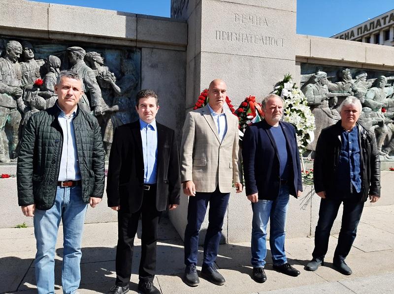 БСП – Бургас отбеляза 9 май – Деня на победата
