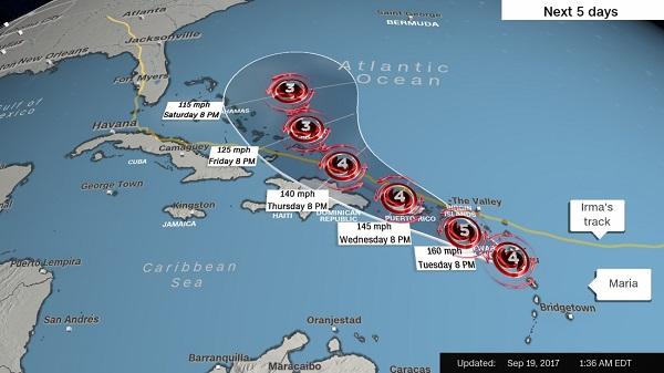 Ураганът Мария удари Карибите