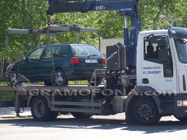 До 70 лева за вдигнат автомобил в Бургас